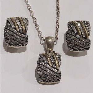 Jewelry - 925 Sterling Silver Brilho Collection Set
